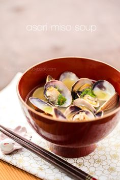 Clam Miso Soup | Just One Cookbook.com . . . http://justonecookbook.com/blog/recipes/clam-soup/