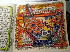 Love joanne sharpe!  Love Tea, have to try art journaling next time I have some.