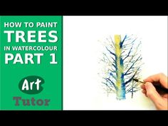 How to Paint Trees in Watercolour - Part 1 - YouTube