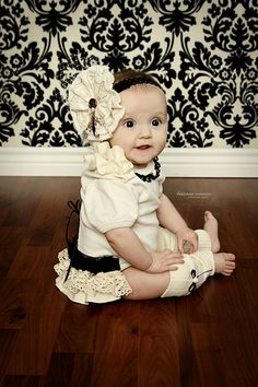 Baby Girl Onesie Organic Cotton Newborn to 18 by TheCuddleLoom, $33.00