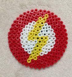 Flash Logo Perler Bead Art by EightBitEvolution on Etsy, $3.00