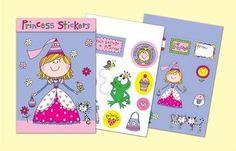 Rachel Ellen Designs Sticker Match Note Pads | STMNT4 Princess Stickers - http://www.stationeryheaven.nl/stickers