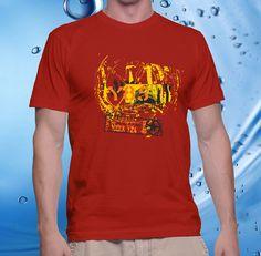 tshirt men, cotton combet gildan front custom Cargo Dockland Y85 (red) – CELLCUSTOMCASE