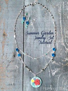 Summer Garden Jewelry Tutorial by Flamingo Toes