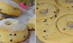 Strúhaný koláč s tvarohom a jablkami – snadnepecivo Ricotta, Bagel, Doughnut, Muffin, Bread, Cookies, Baking, Breakfast, Basket