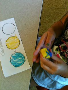 FREE color mixing activity print-out