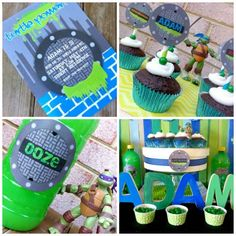 ninja turtle birthday ideas | Ninja Turtles Birthday Party Ideas http://spaceshipsandlaserbeams.com ...