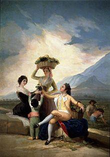 Cartones de Goya para la Real Fabrica de Tapices.