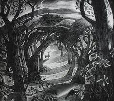 """Midsummer"" by Flora McLachlan (etching)"