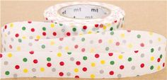 japanese masking tape with funny red, yellow, grey & green dots Mt Tape, Mt Washi Tape, Masking Tape, Green Dot, Green And Grey, Scrapbook Supplies, Scrapbooking, Ens, Modes4u