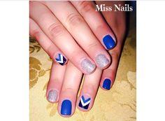 Nail Art in Blu