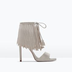 #heels #sandals #nude #franges #mode #fashion #shoes by Zara