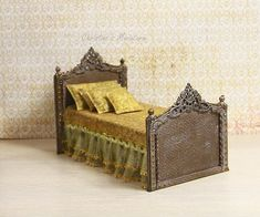 Hey, I found this really awesome Etsy listing at https://www.etsy.com/listing/556594716/miniature-doll-bed-miniature-bed-112