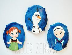 Disney Frozen cookies  - young Anna & Elsa