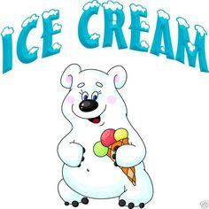 "Ice Cream Decal 14"" Concession  Food Restaurant Menu #HarbourSigns"