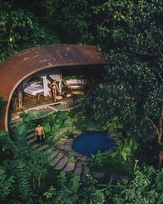 Make your holiday become unforgettable moments by staying at the unique bamboo house. Whether you're looking for a cozy eco cottage or an extravagant mansion constructed from bamboo, you can find, Read more . Small Cottage Designs, Bali Baby, Bamboo Architecture, Bamboo House, World Days, Unique Hotels, Forest House, Bali Travel, Ubud