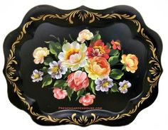 We love Toleware Trays for their beautiful florals in stunning colors, they are really too beautiful not to display. From the French Tole Pente du Lac, tole painting refers to applying paint and la…
