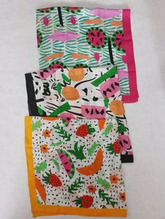 Fruit Party II 36x36 Silk Charmeuse Scarf PRE by TheeBouffants, $175.00