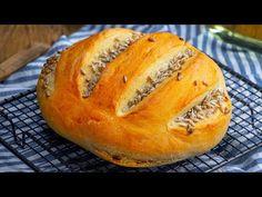Ropogós, könnyed és otthon készíthető! Kenyeret sütni érdekes kaland!  Ízletes TV - YouTube Bread Baking, Biscuits, Homemade, Adventure, Cooking, Recipes, Tv, Breads, Tasty
