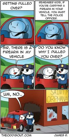 getting pulled over