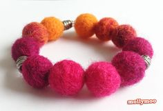 needle felted beads - so perfect for making special jewellery for your kids and gifts