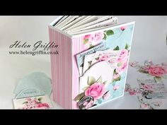 The latest digital collection from Nitwit Collections is absolutely gorgeous – if you love the look of french shabby chic, or even a fan of Cath Kidston, then this collection is for you! Mini Albums, Tutorial Scrapbook, Paper Bag Album, Paper Bags, Memory Album, Memory Books, Stampin Up Karten, Mini Album Tutorial, Mini Scrapbook Albums
