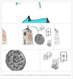 https://flic.kr/p/F1xxgf | In Progress: Zimmer (Cornelius) Tower | A collage of the full sketch and every part separated.  Full Sketch where it is based on  www.flickr.com/photos/116827835@N07/25629721621/in/photos...