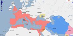➯ Ver en Pinterest: #103 #Mapa de Europa, Oriente Medio y África del Norte, Año 300.  Fuente: geacron.com