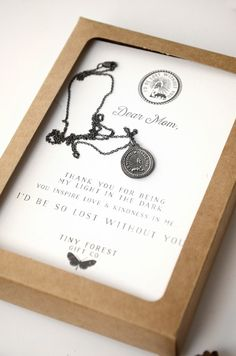 Mothers Necklace : I'd Be Lost Without You : Perfect Gift for Mom | Figs and Ginger