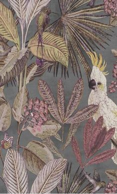 Hertex Fabrics is s fabric supplier of fabrics for upholstery and interior design Motif Tropical, Green Orchid, Tropical Home Decor, Bunt, Wall Murals, Floral Prints, Hertex Fabrics, Painting, Toilet