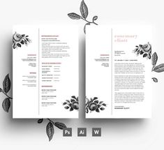 Creative CV template Business card Cover letter/ easy