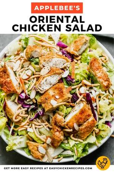 Crispy Chicken Salads, Asian Chicken Salads, Chicken Salad Recipes, Oriental Chicken Salad Applebees, Crispy Chow Mein Noodles, Asian Ramen Salad, Oriental Salad, Meat Salad, Pasta Salad