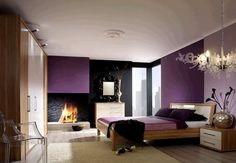 Attirant Lavender To Eggplant To Black  Dramatic Black Wall Contemporary Bedroom,  Bedroom Modern,