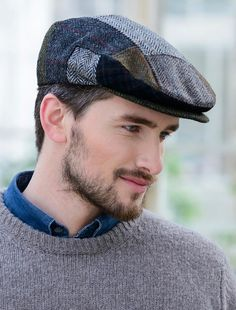 The Aran Sweater Market knows a lot about Irish Flat caps. Our Trinity Flat Cap in black is something special. Authentically made in Ireland using tweed, this Irish flat cap can be yours today. Magician Costume, Irish Hat, Leather Passport Wallet, African Maxi Dresses, Beautiful Men Faces, Flat Cap, Patchwork Designs, Club Style, Mens Caps