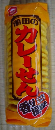"Curry Rice Crackers "" Karee Sen "" ( Kameda Seika ) http://www.japanstuff.biz/ CLICK THE FOLLOWING LINK TO BUY IT http://www.ebay.com/itm/-/171973930670"