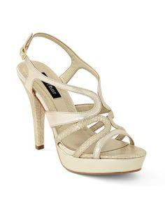 White House | Black Market Soft Gold Metallic Heel #whbm/ too plain???