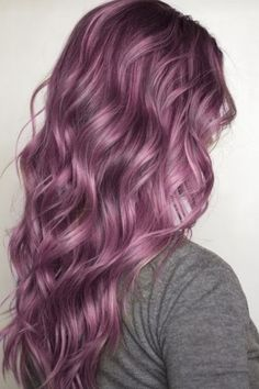 Purple pastel hair color.                                                                                                                                                                                  More