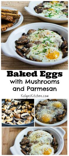 This super-easy recipe for Baked Eggs with Mushrooms and Parmesan has been a huge hit on the blog. Don't miss my trick for getting the whites done quickly while the yolks are still soft.  (If you skip the toast, this is low-carb and gluten-free.)  [from KalynsKitchen.com]
