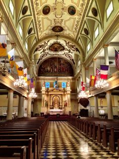 The Saint Louis Cathedral, New Orleans by Nickyrhea Photography St Louis Cathedral, Cathedral Architecture, French Colonial, New Orleans Louisiana, Plantation Homes, French Quarter, Beautiful Buildings, Barcelona Cathedral, My House