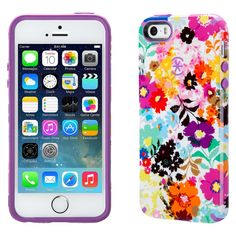iPhone 5/5S/SE Case - Speck CandyShell Inked - Bright Flowers (Spk-A2798), Assorted - Dnu