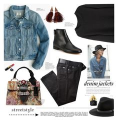 """Denim Jackets"" by barngirl ❤ liked on Polyvore featuring BRAX, J.Crew, Sole Society, Whiteley, Gianvito Rossi, Miu Miu, La Garçonne Moderne, Marc Jacobs, Chanel and Louis Vuitton"