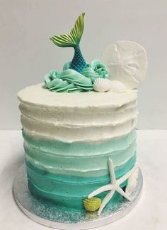 Vintage Mermaid Mermaid Birthday Cakes, Mermaid Cakes, Cake Albums, Wafer Paper Flowers, Fresh Flower Cake, Vintage Mermaid, Cake Ingredients, Cute Cakes, Let Them Eat Cake