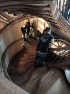 invesitgative and iterative design...the sculptural spiral centrepiece staircase at HIDE - the incredible newly-opened restaurant with groundbreaking seasonal food by #olliedabbous; at #85piccadilly, with @hedonismwines @hide_restaurant @thesewhitewallsstudio @lustedgreen  #timber #wood #woodcraft #lvl #laminatedveneerlumber #oak #grandesignstaircases #woodart #woodconstruction #innovative #fabrication #digitalfabrication #digifab #handmade #CNC #bespoke #cncart  #architecture #London #stair