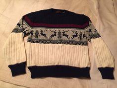 Vintage 1970's Men's Christmas Sweater XL