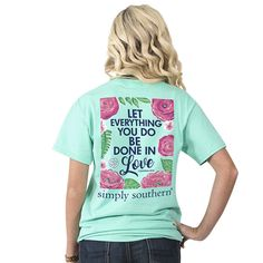 b84ae748b Simply Southern SS Tee - Preppy Let All