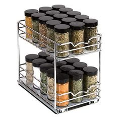 Cabinet Spice Rack, Wall Mounted Spice Rack, Spice Rack Organiser, Spice Storage, Spice Organization, Kitchen Cabinet Organization, Kitchen Cabinets, Cabinet Organizers, Best Spice Rack