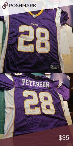 Selling this Womens Minnesota Vikings Adrian Peterson Jersey on Poshmark! My username is: swanfire. #shopmycloset #poshmark #fashion #shopping #style #forsale #Reebok #Tops
