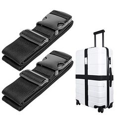 Luggage Strap TSA Approved Lock Travel Accessories Travel Suitcase Belt Heavy Duty Quick Connect Buckle GLORY ART 1 Pack Barber Scissors