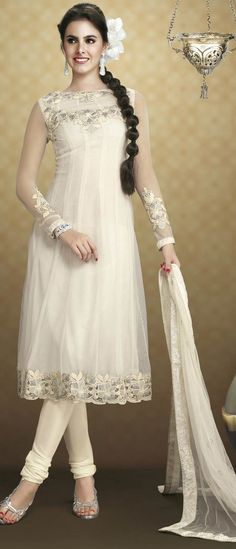 Off #White Net #ChuridarKameez @ $106.73