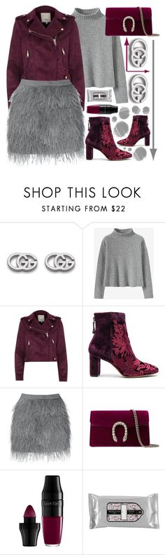"""🐭🐭🐭"" by sanela-enter ❤ liked on Polyvore featuring Gucci, River Island, Alexandre Birman, Lancôme, Beekman 1802 and outfit"